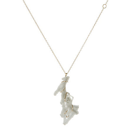 This stalactite necklace from Terrain is pure awesome.