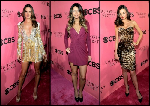 @AngelAlessandra, Lily Aldridge and @MirandaKerr at the viewing party for the 2011 Victoria's Secret Fashion Show.  The VS Angels taped the fashion show earlier this month in NYC where they showed off the lingerie company's latest collection.