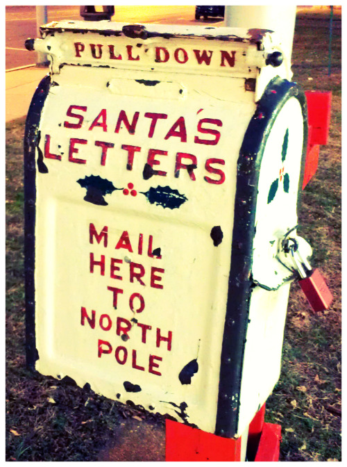 likearadiowave:  Santa's Letters Mail Box on Flickr. Found outside the USPS post office in december 2009.
