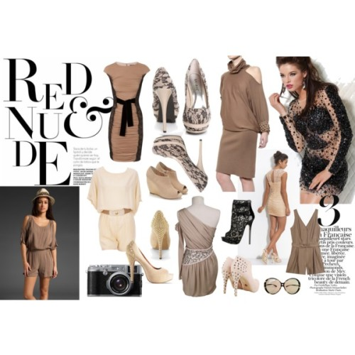 "Rude & Nude by melissamarie87 featuring one shoulder dressesMaxMara nude dress, £770Sass Bide one shoulder dress, £280Nude one shoulder dress, €433Short party dress, $683 1 Phillip Lim jumpsuits and romper, $529Karen Zambos silk jumpsuit, $345Ella Moss romper, $169Jimmy Choo peep toe booties, $1,017Wedge heels, $277Vince Camuto nude pumps, $80Vince Camuto nude pumps, $80Nude shoes, $42Nude heels, $38Nude platform pump, $38Oversized sunglassesBuy Fujifilm Finepix X100 Digital Camera, HD 1080p, 12.3MP with 3"" LCD…, £900"