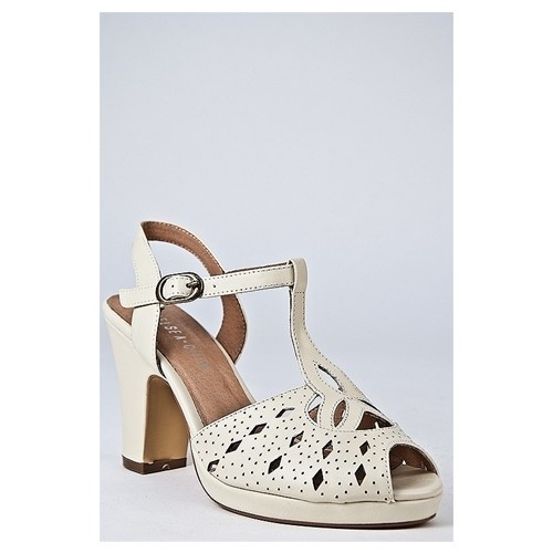 Chelsea Crew - Alexa High Heel Shoe - Bone at DNA Footwear   (clipped to polyvore.com)