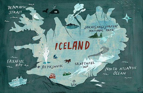 Iceland map (by Good Illustration.)