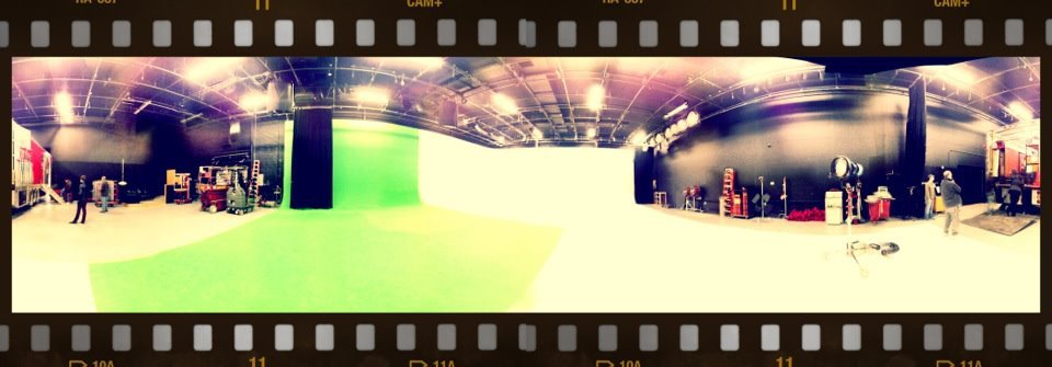 Today's class in the big ass green screen room at DR&A in Nashville.