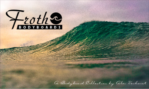 Froth bodyboards, brand created by me for my design class