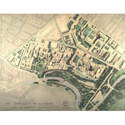 Glasgow University Expansion Plan / Frank Mears / 1948
