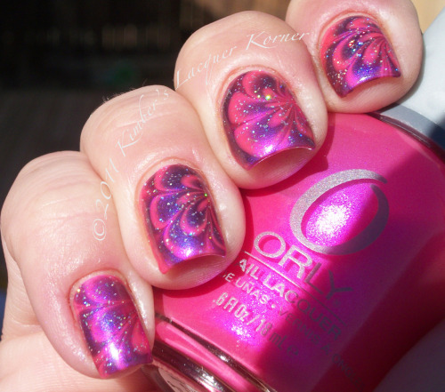 Water marbling with Orly Oh Cabana Boy and Revlon Decadent. Love your blog and wanted to share with you! My blog can be found at:  http://kimberslacquerkorner.blogspot.com  Thanks for the submission! This is gorgeous!