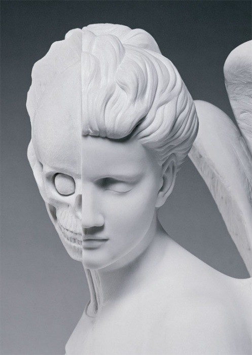 vaacuum:  Damien Hirst, Anatomy of an Angel - Postcard