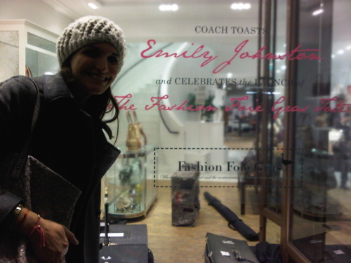 Is that my name in the coach window? How strange! ;)