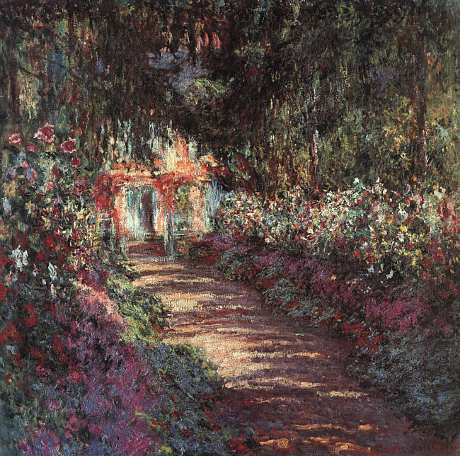 thehazelwood:  The Garden in Flower (1900) - Claude Monet