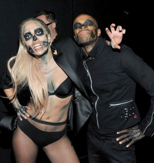thatboyisamonnster:  Lady Gaga with her new choreographer Richard Jackson backstage at the Grammys Nominations concert.