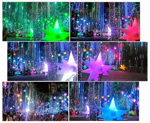 pretty dancing lights in Ayala Triangle :) I love Christmas! <3  11-28-11