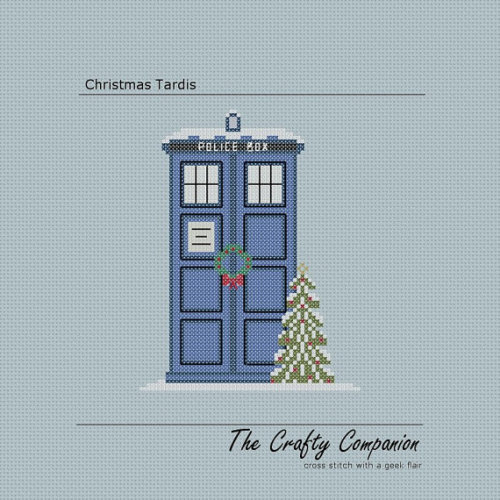 Christmas Tardis Doctor Who/Tardis Inspired by CraftyCompanion