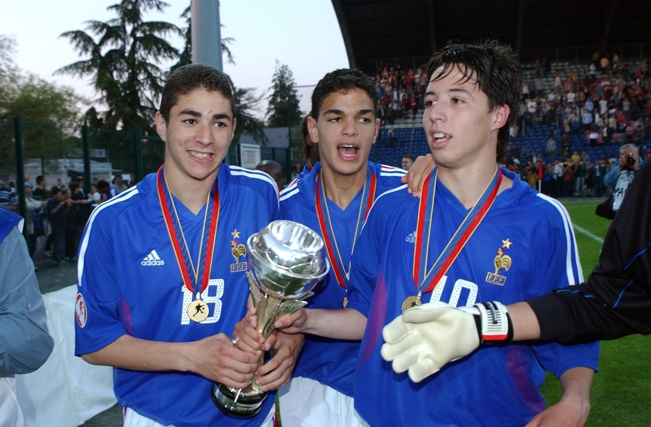 After winning the U17 Euros in 2004.