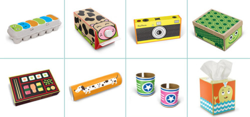 springwise:  Stickers turn cardboard trash into playtime treasure  Even in today's world where children are being treated to their own range of tablet computers, it's still the case that many are quite content to while away their hours playing with simple cardboard boxes. With that in mind, Arizona-based Box Play for Kids now offer a range of whimsical stickers designed to jump-start kids' imagination when playing with cardboard. READ MORE…  Good idea, sticky and sustainable