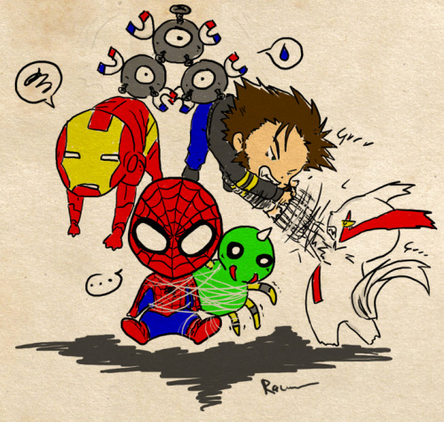 stickempowers:  keepyourmouthshutandyourmindopen:  Crossover - Marvel vs Pokemon  ooc: ahaha this is brilliant  God! Chibis! My one weakness!