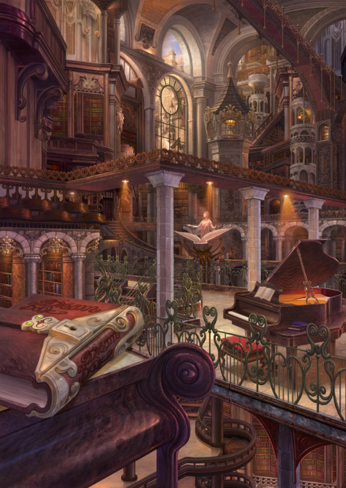 bluefaie:  Every bookworm's dream~~ I feel like I can live here :D