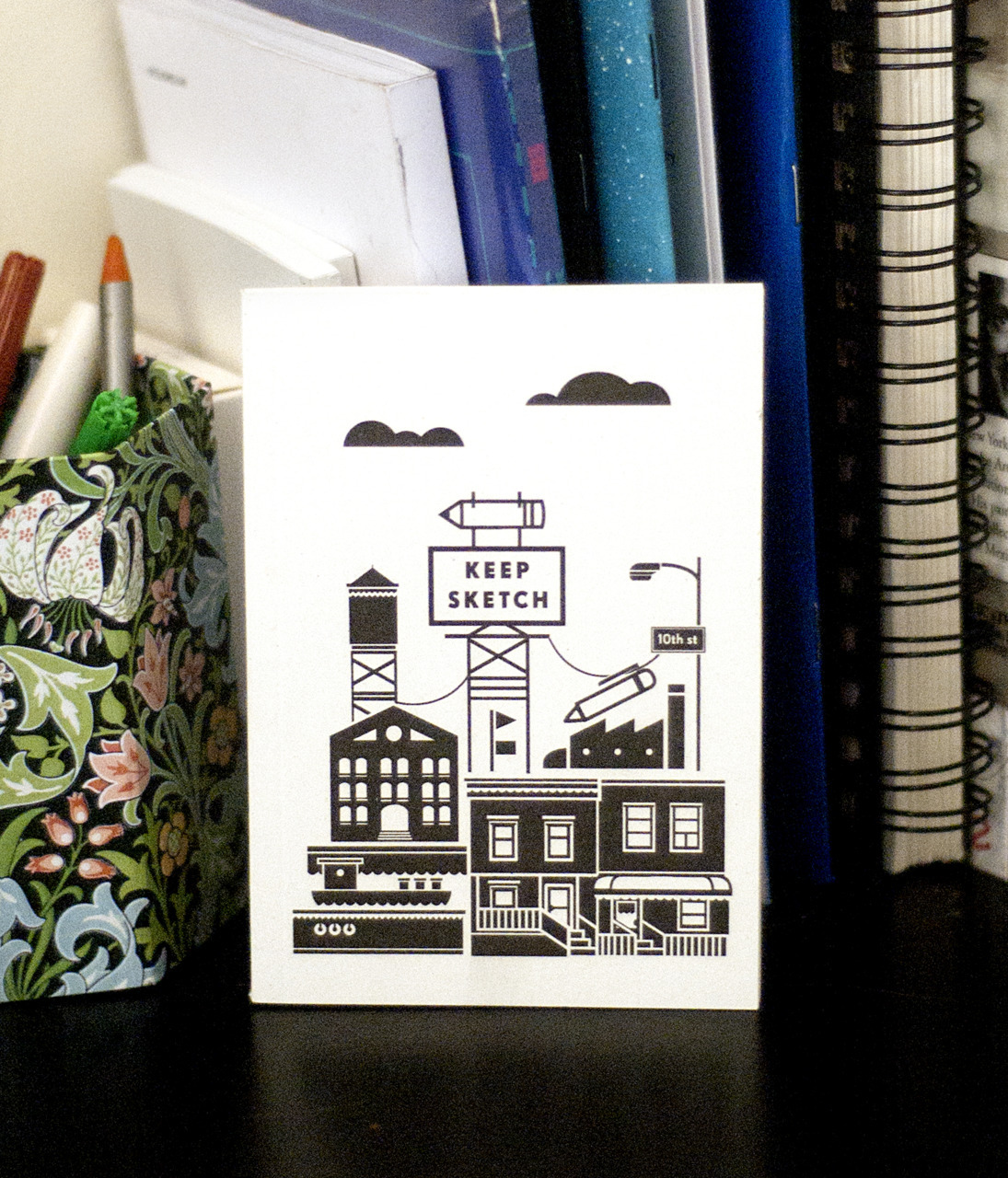 The Keep Sketch notebooks have arrived!! Featuring a black ink risograph-printed, 250gsm Cyclus Offset cover and 80 Munken Lynx Rough 100gsm plain pages. First edition of 250 copies, buy one here!