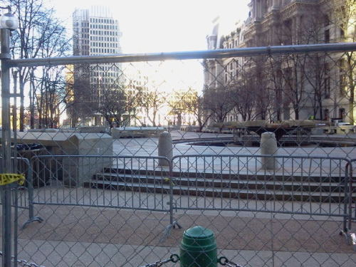 andersonatlarge:  The Presence of Absence: All's quiet on Dilworth Plaza, the former home of Occupy Philly.