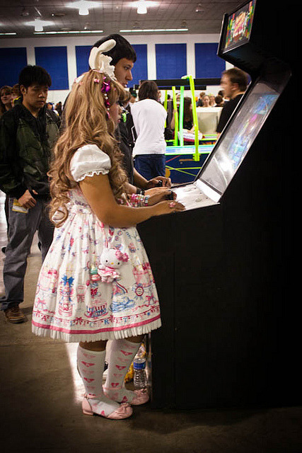 Cute Arcade Gaming Loli by rejectsuperstar on Flickr.Via Flickr: In AP