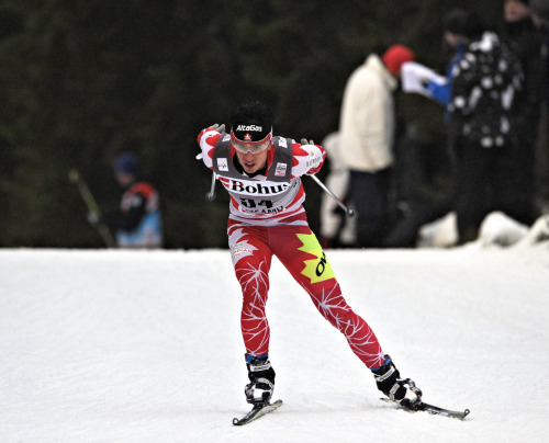 On my way to 48th in the 10km Skate in Kuusamo Finland