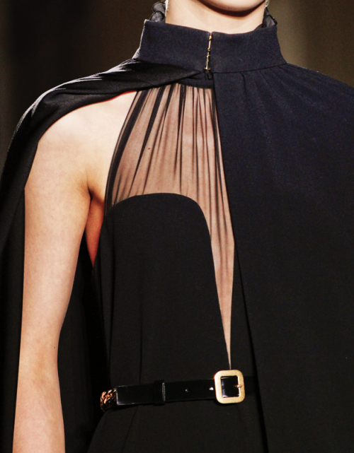 Yves Saint Laurent f/w '11: details