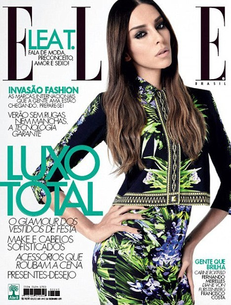 LEA T FOR ELLE BRASIL WORK. IT. OUT.