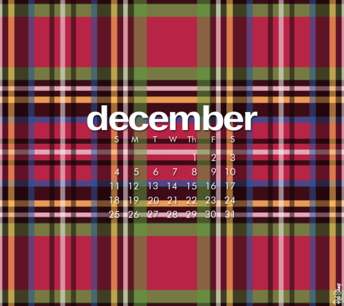 We're mad for plaid! Warm up any screen with December's free digital calendar.