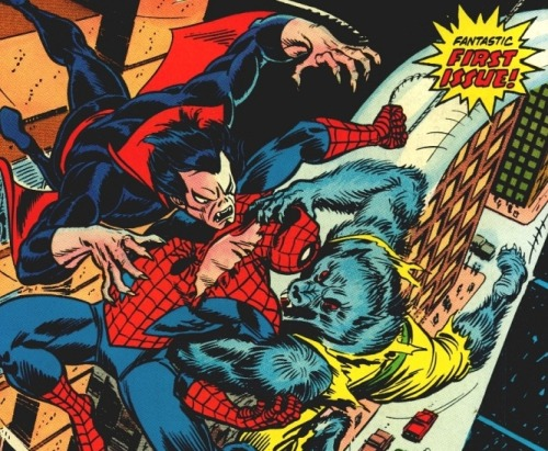 SPIDER-MAN, MORBIUS, AND MAN-WOLF