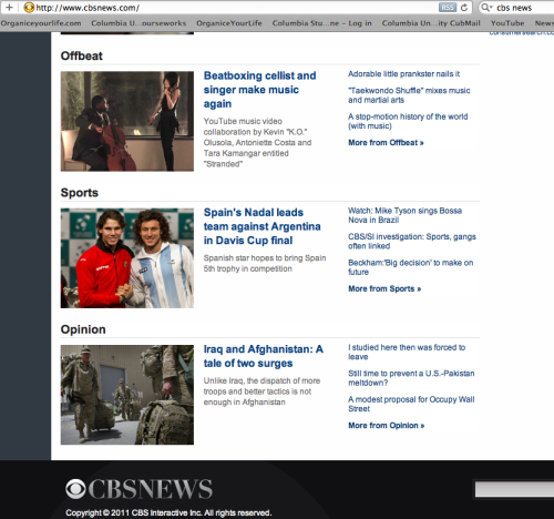 "CBS News just featured the video for my song ""Stranded"" on the front homepage!!! Pretty cool"