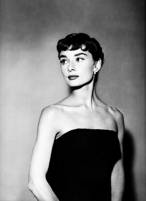 "1953: Audrey Hepburn Sabrina hair and makeup test.  ""God kissed her on the cheek,"" Billy Wilder once said, ""and there she was."""