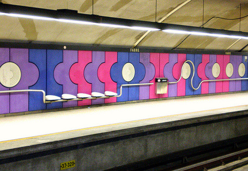 hello-amber:  occult-symmetry:  I just really love this metro station.  For sure one of my favourite stations, though I don't think I've ever actually gotten off the metro there.  amber, can we do a photoshoot there one day? the magical day i get the balls/cash to dye my hair purple, and the day you decide to go back to pink.