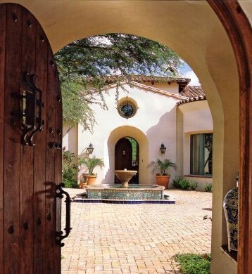 georgianadesign:  Spanish Colonial vista.