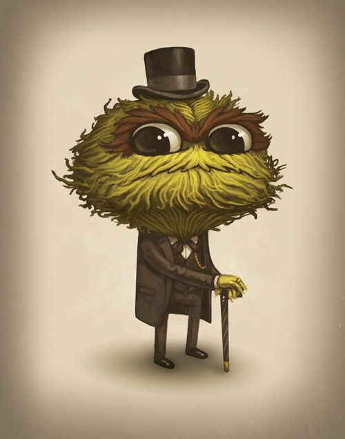"sirmitchell:  Oscar The Grandiose Second piece from the upcoming show ""The Lovers, The Dreamers, And Me - A Jim Henson Tribute Exhibition."" at Gallery Nucleus. This was the first idea I had for the show. It took me about 10 tries before I got it right, but I was dead set on making it work."