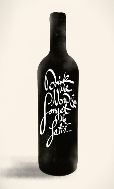 I'd buy this if it were on store shelves. *Via typeverything:  Typeverything.com - Drink Me Now & Forget Me Later… Hand lettered script exploration. (via Creattica)