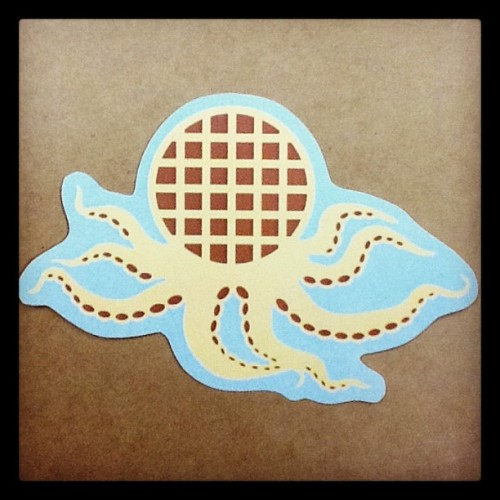 Waffleoctopus 2.0. The original was a hand drawn and sent out in a random pack.