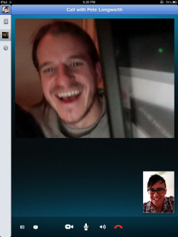 Hi 5's over Skype with my buddy Pete Longworth!   Watch out world! It's a 'Plum Jungle' out there!  http://PlumJungle.com