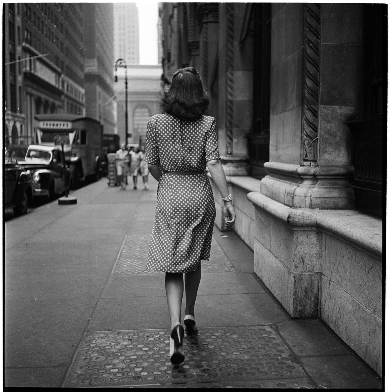 Stanley Kubrick, Walking Away On The Streets of New York, 1946 for Look Magazine