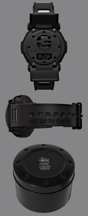 "Stüssy had teamed up with G-shock to design this stellar watch. The Stüssy x Casio GShock G-001 ""Jason"" watch is limited edition and very cool indeed. It is an updated version of an earlier model released in the year 1994. It's a really cool watch but, runs a relatively steep price at $230! It can be bought at Stussy.com and Stüssy chapter stores."