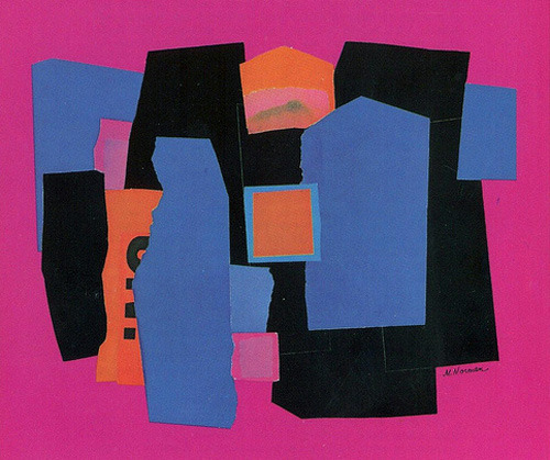 Abstract Jazz: Atlantic Records Collage artwork for Coltrane Plays the Blues by Marty Norman. An album of tunes recorded in 1960 during the My Favorite Things sessions it was released two years later after John Coltrane left the label for Impulse.