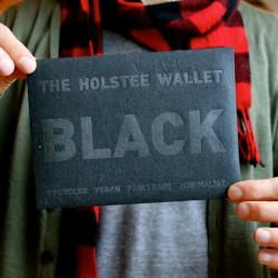 The Black Wallet by Holstee