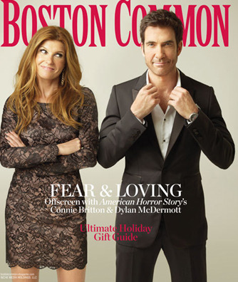 Connie Britton and Dylan McDermott for Boston Common Magazine, Dec/Jan 2012, 1/3