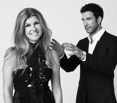 "Connie Britton and Dylan McDermott for Boston Common Magazine, Dec/Jan 2012, 3/3  Connie Britton: ""I had  reservations about the guy in the rubber suit. I honestly did not think he'd  make it to TV. Maybe I've drunk the Kool-Aid now, but I've become quite used to  the rubber man. He conjures something so specific and shocking. And I now think  there is a place for him on television."" [X]"