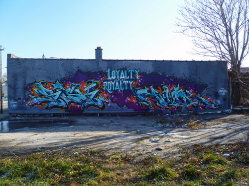 RISK & REVOK. Detroit 2011 on Flickr.Loyalty & Royalty. RISK & REVOK. #Detroit #Graffiti #Graff