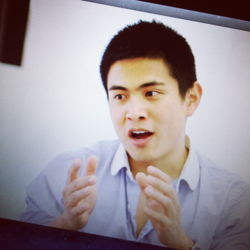 Had a great time interviewing Bing Chen from YouTube Creator Initiatives and Entertainment Partnerships at Google to give us insight for our documentary Uploaded. We learned more about the YouTube phenomenon, the company, and YouTube's future plans. We were thoroughly inspired.