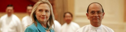 "shortformblog:  Hillary Clinton offers Myanmar incentive to reform itself: The Secretary of State has been in Myanmar for the past day or so. ""I came to assess whether the time is right for a new chapter in our shared history,"" she says. The U.S. is willing to reward Myanmar for implementing reforms. source Follow ShortFormBlog"