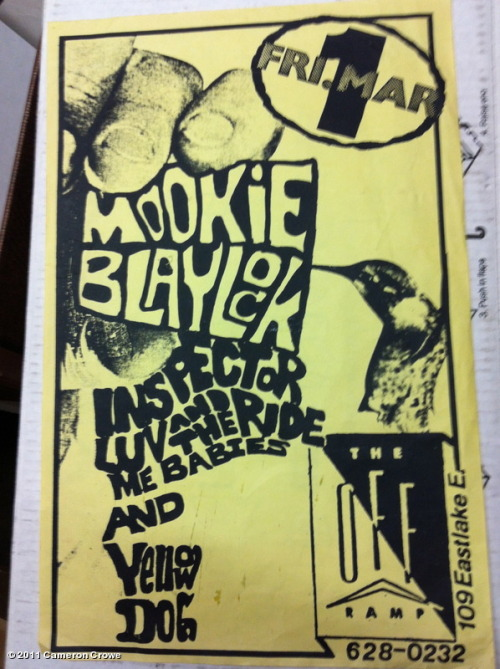 Mookie Blaylock handbill, from the collection of Cameron Crowe.