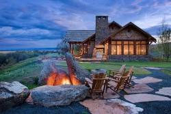 georgianadesign:  Montana big sky. Cabin by Design Associates.