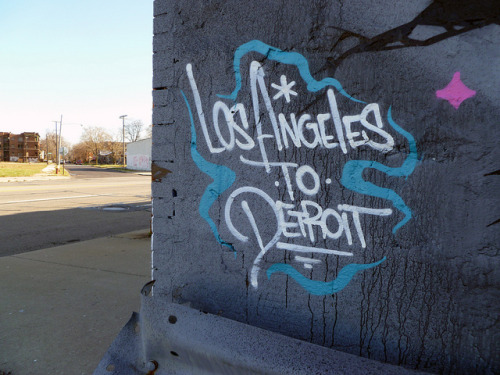 Los Angeles to Detroit. Detroit 2011 on Flickr.MSK in #detroit. #graffiti #graff