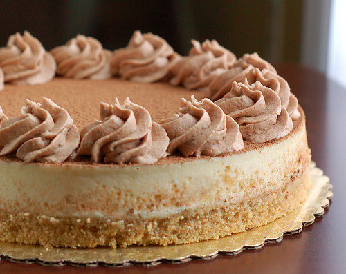 food-fix:  tiramisu cheesecake (by Bella Dolce)
