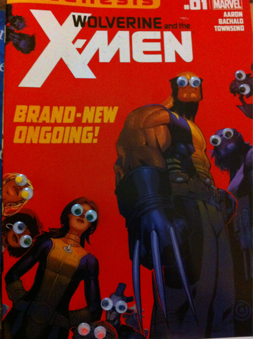 Not an ad, but funny as hell! Follow this blog! xmenwithgooglyeyes:  Opening of the Jean Grey school for googly - Wolverine and the X-Men 1